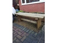 1500mm TIMBER BENCH assembled and delivered any location