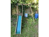 Kids swing and slide