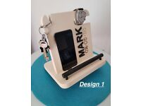 Hand Made gift Personalised Docking Station, Mobile Phone,watch &Key Organiser
