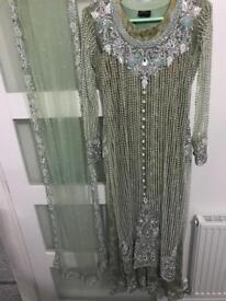 Asian embroidered dress