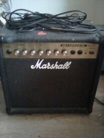 Marshall Valvestate leads and guitar strap