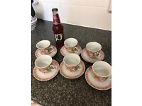 Teacups and saucers x small size , no chips or marks x collect only