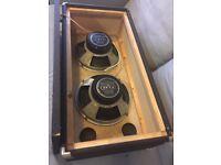 'Fane' 2 x 12'' vintage guitar speaker cabinet.