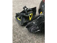 Electric Golf Trolley and Taylormade Tour Bag
