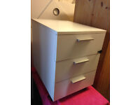 office pedestal chest of 3 drawer white Ikea