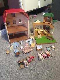 Sylvanian Families Treehouse school and small house
