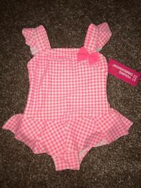 Baby Girls Swimming Costumes 0-3 & 3-6