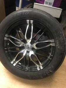 17 inch DAI Wheels + 225 / 55 R17 ZETA ALL SEASON TIRES -- 5X100