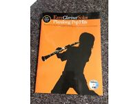 Easy Clarinet Solos Playalong Pop Hits- song book + CD