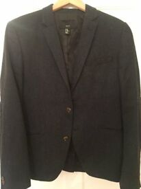 Navy Wool Speckled H&M Jacket Blazer (42R)