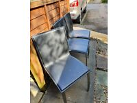 3 leather dining chairs