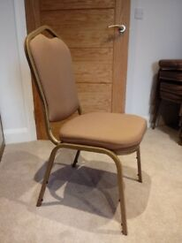 10 x Upholstered stackable dining chairs £80 job lot