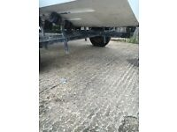 Galvanoised slid/ skid boat trailer good condition with free boat shell