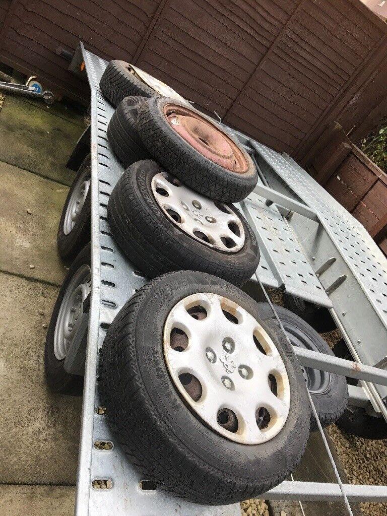 Peugot 206 4 steel wheels and tyres 175/65 r14 off 2004 model