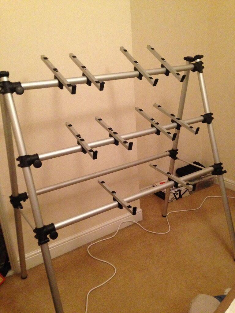 jaspers 3d 120s 3 tier aluminium keyboard stand in norwich