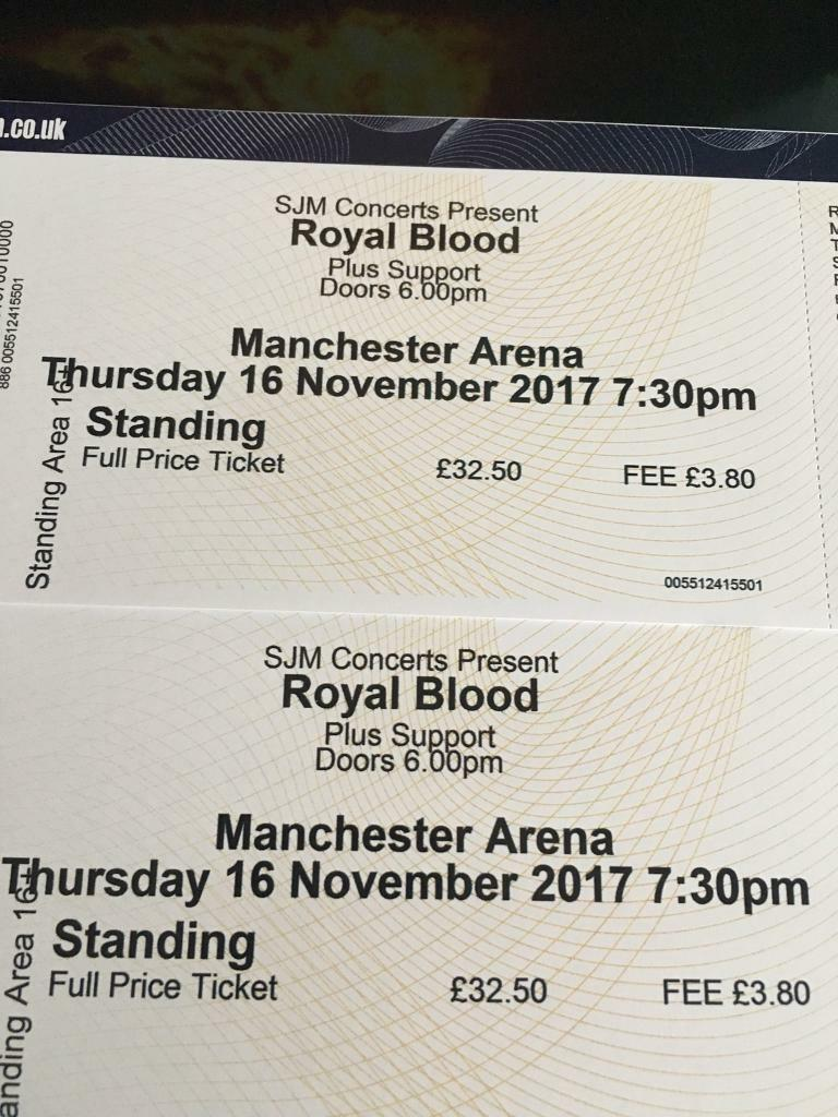 Royal Blood x 2 standing Manchestet arena 16th November 07393471927
