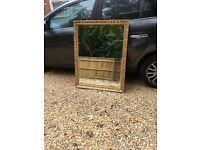Gold colour edged mirror