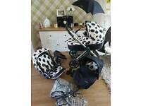 Babystyle oyster 3in1 pram with extras