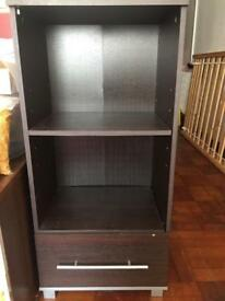 Shelves with drawer