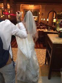 Ivory wedding dress