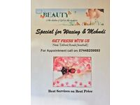 PRIVATE LADY BEUATICIAN AVAILABLE FOR WAXING AND MEHNDI IN SOUTHALL .