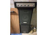Meridian PA System (75 Watt amp + 2 passive speakers)