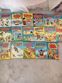 17 Beano annuals from different years