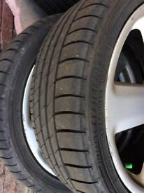 "Audi 18"" 5 spoke Alloys and nearly new tyres"