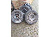 Winter Tyres mounted on steel rims