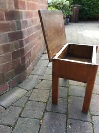 Wooden sewing box/ bedside table