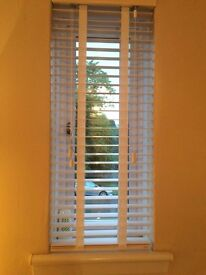 White Wooden Blinds with tape effect