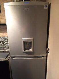 Beko fridge freezer with water dispenser wine rack silver free standing 340 ltr capacity in total