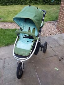 Bumbleride indie single Pram and carrycot