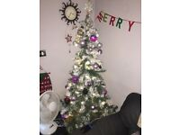 WHITE SNOWFALL CHRISTMAS TREE 6FT