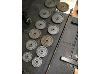 Cast weight plates