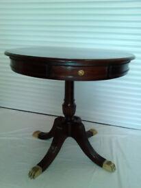 Round Mahogany Display Hall Table