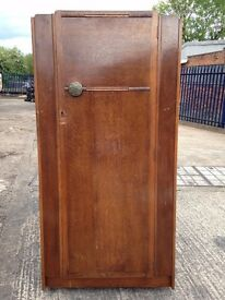 MEDIUM SIZE VINTAGE WARDROBE IN GOOD SOLID CONDITION - SHABBY CHIC CHALK PAINT