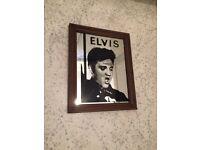 Mirror, Elvis Jailhouse rock, vintage and rare, measures 34cm high by 27 cm across