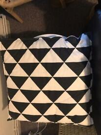 Large Monochrome IKEA cushion 65cm