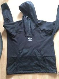 Black/dark grey adidas quarter zip jacket
