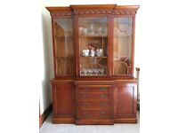 Large Display Cabinet With drawers and two side cupboards