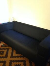Ikea KLIPPEN sofa with black cover