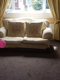 Two three seater sofas and one two seater sofa for free