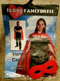 Red Hero Cape with added Mask! Fancy Dress