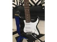 Like New Electric guitar with Strap +case
