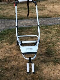 Brand New Mountain Buggy Plus One Frame with Second Seat and Brand new Red Sun Hood