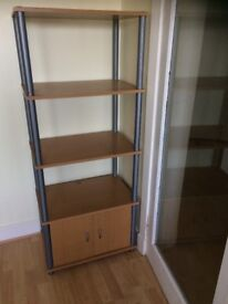 Immaculate Condition Sturdy Shelving Unit With Cabinet