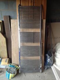 Large chrome heated towel rail
