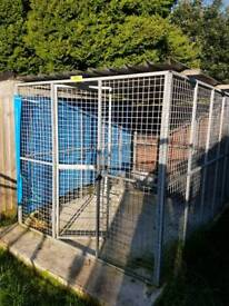 Galvanised dog run with roof