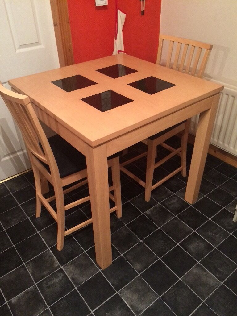 Small Kitchen Table 2 Chairs Dining Table And 2 Chairs Breakfast Bar Height Perfect For Small